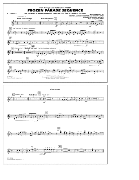Frozen Parade Sequence - Bb Clarinet