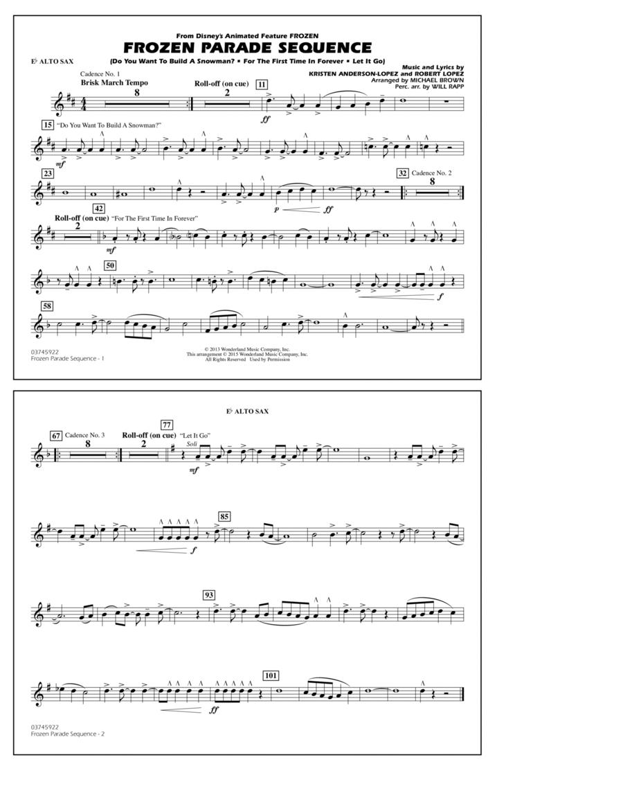 Frozen Parade Sequence - Eb Alto Sax