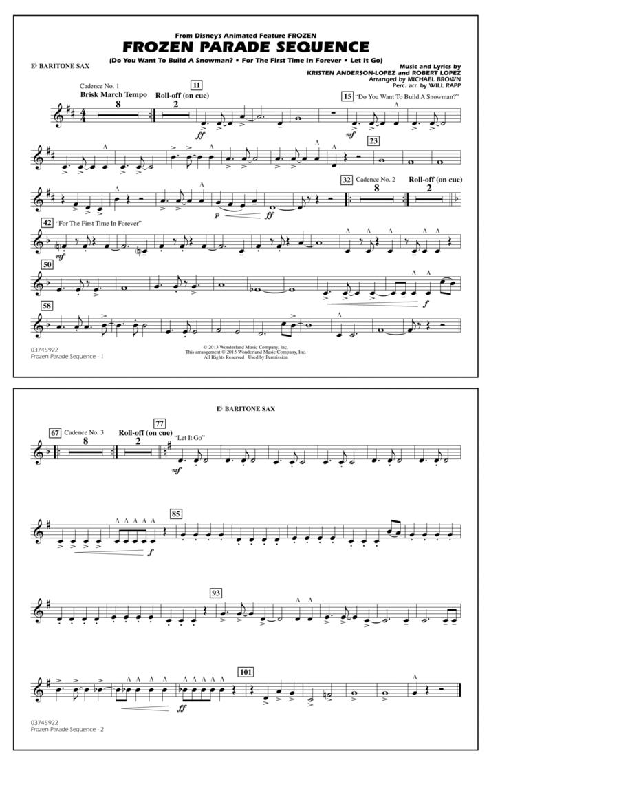 Frozen Parade Sequence - Eb Baritone Sax