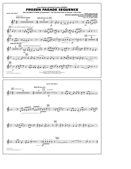 Frozen Parade Sequence - 2nd Bb Trumpet