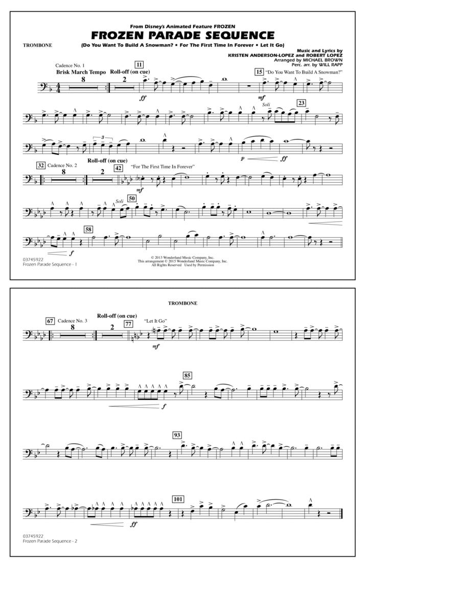Frozen Parade Sequence - Trombone