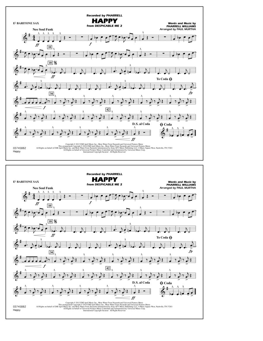 Happy (from Despicable Me 2) - Eb Baritone Sax
