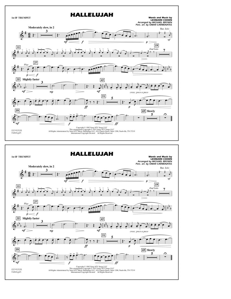 Hallelujah - 1st Bb Trumpet