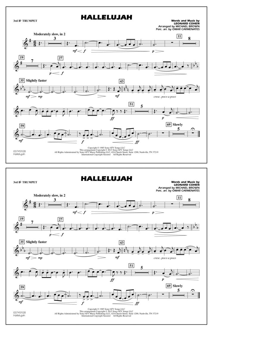 Hallelujah - 3rd Bb Trumpet