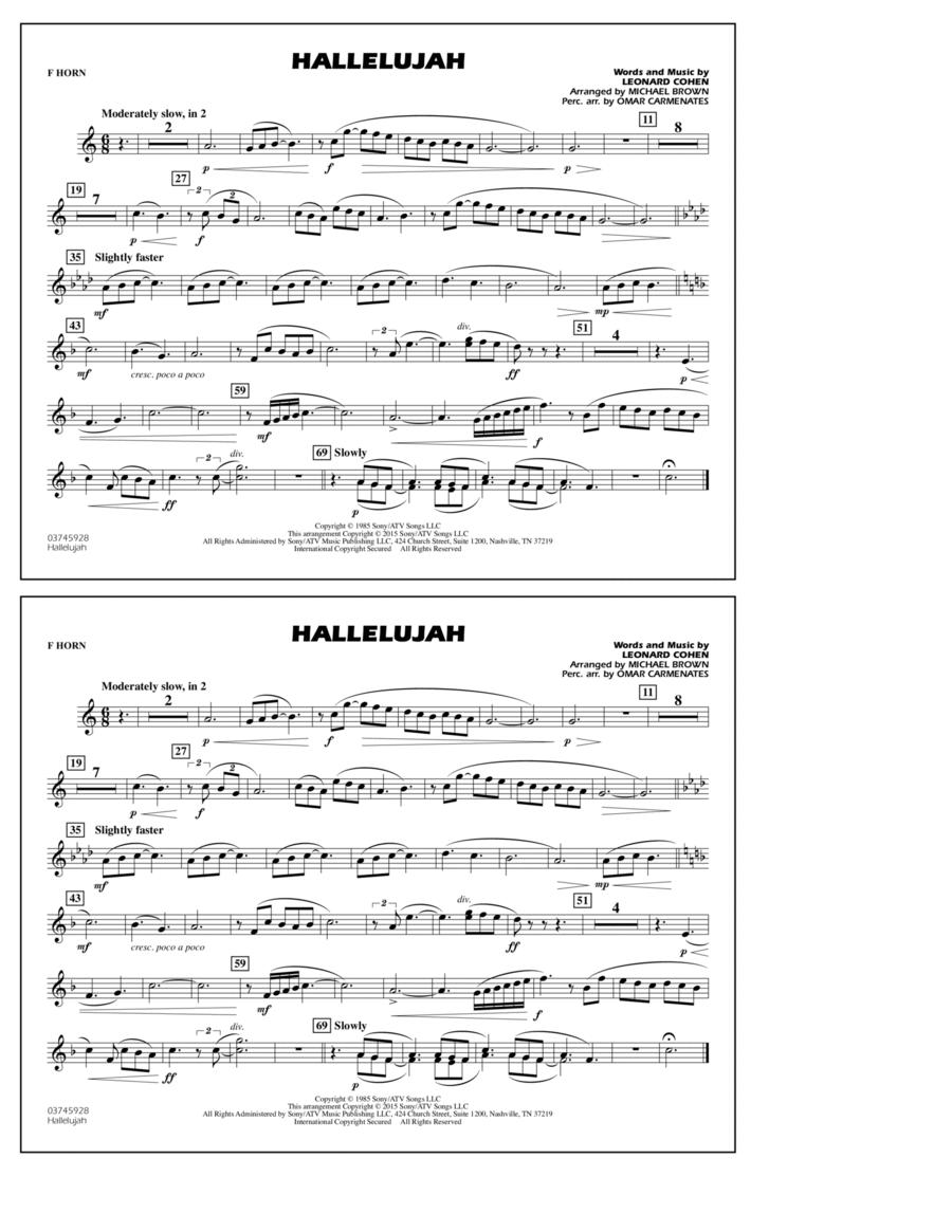 Hallelujah - F Horn