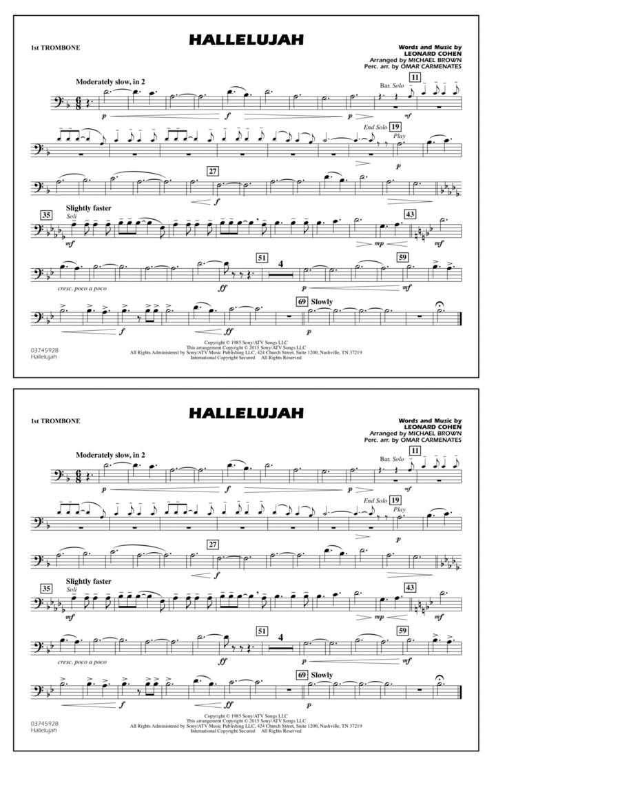 Hallelujah - 1st Trombone