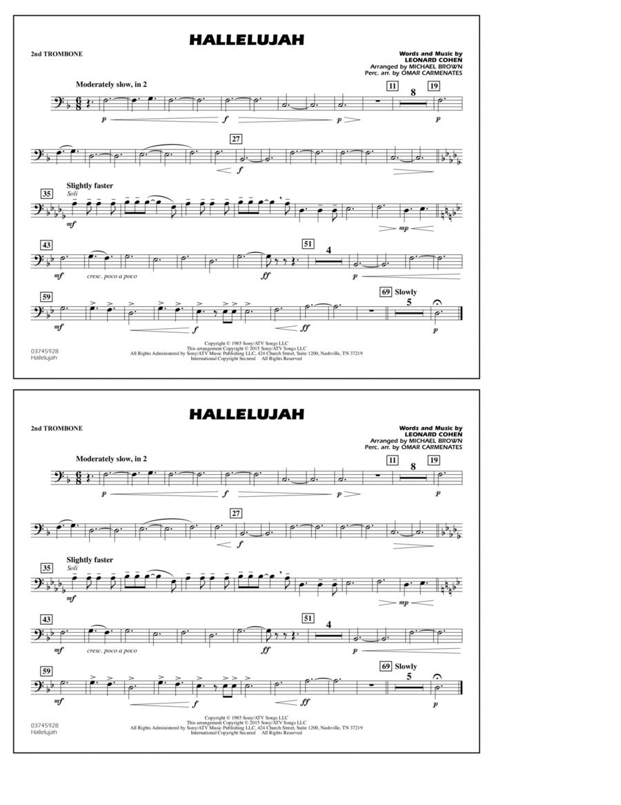 Hallelujah - 2nd Trombone