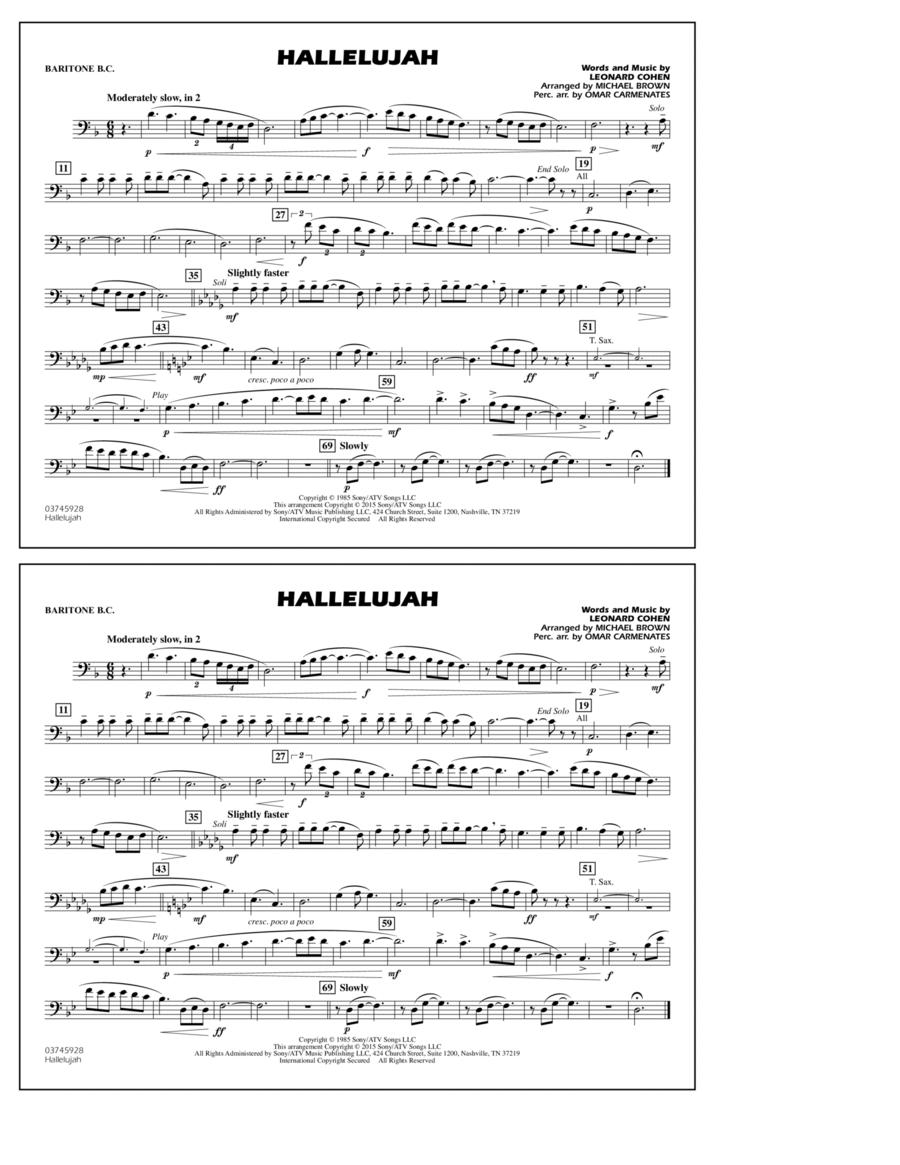 Hallelujah - Baritone B.C.