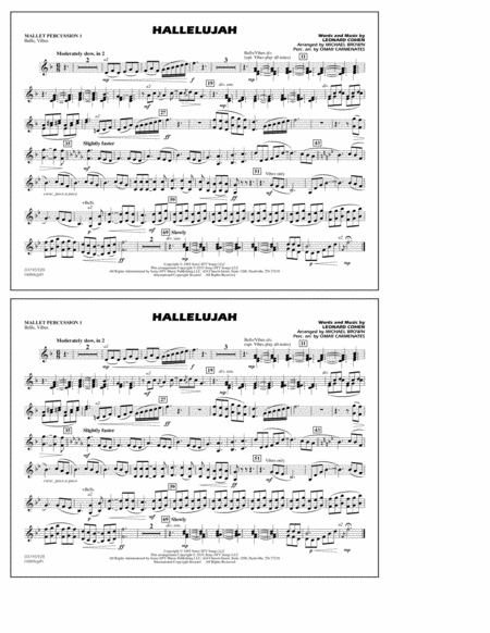 Hallelujah - Mallet Percussion 1