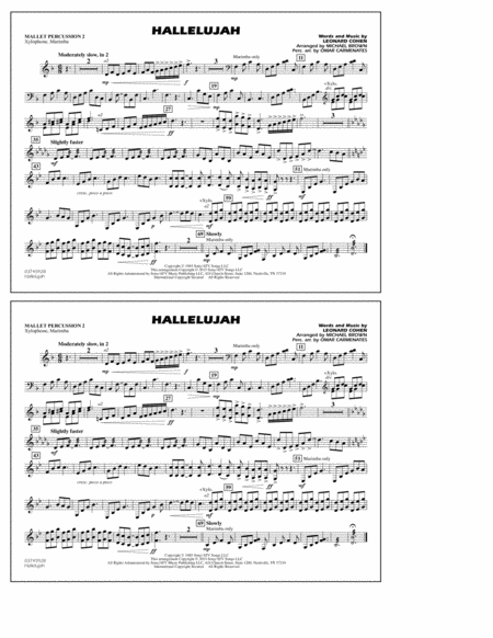 Hallelujah - Mallet Percussion 2