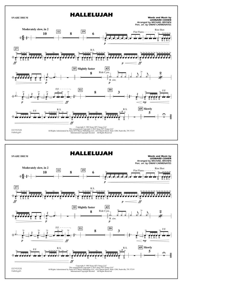 Hallelujah - Snare Drum