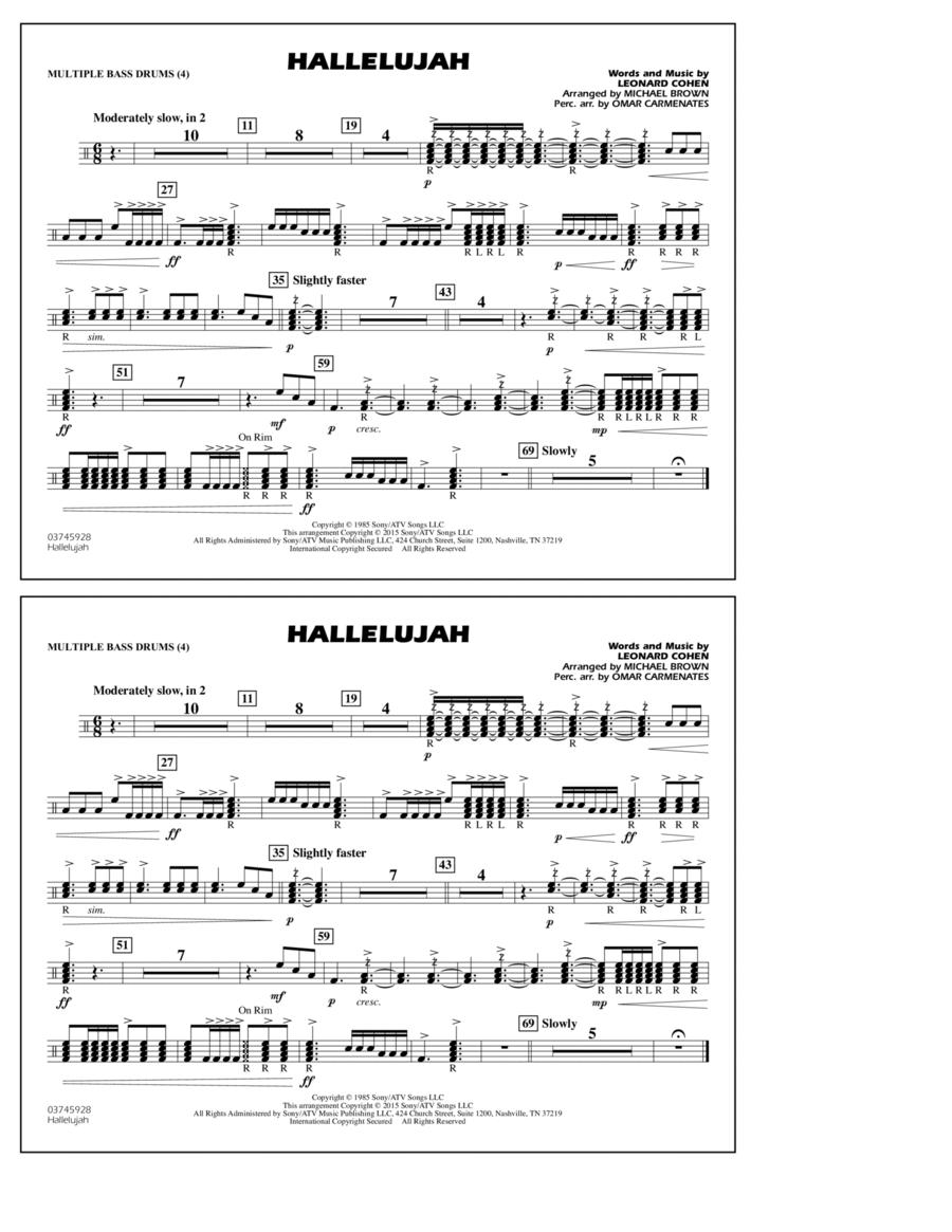 Hallelujah - Multiple Bass Drums