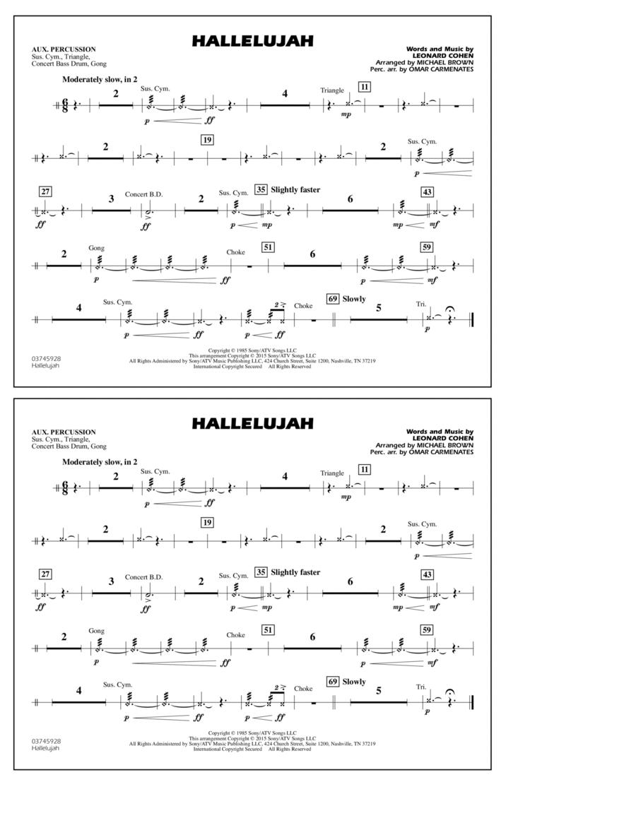 Hallelujah - Aux Percussion