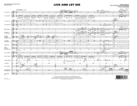 Live and Let Die - Conductor Score (Full Score)