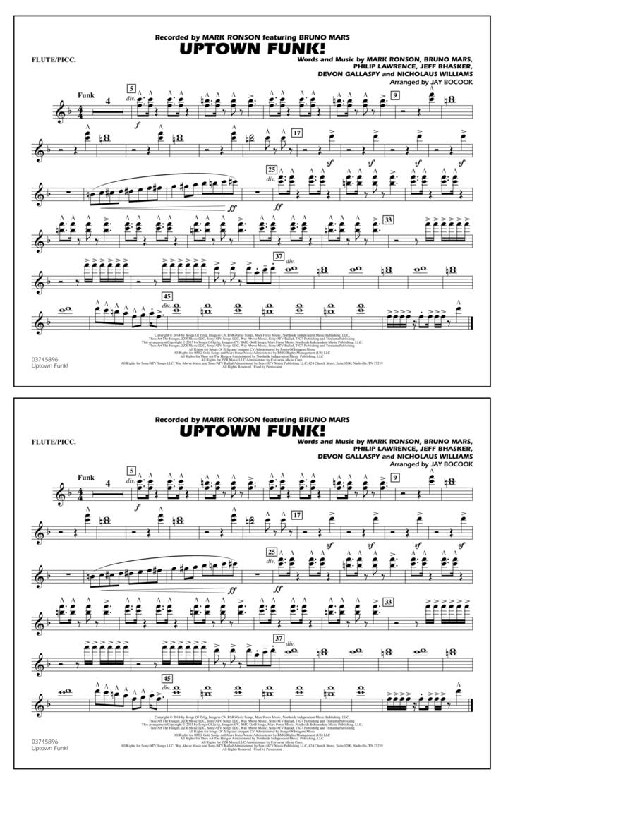 Uptown Funk! - Flute/Piccolo