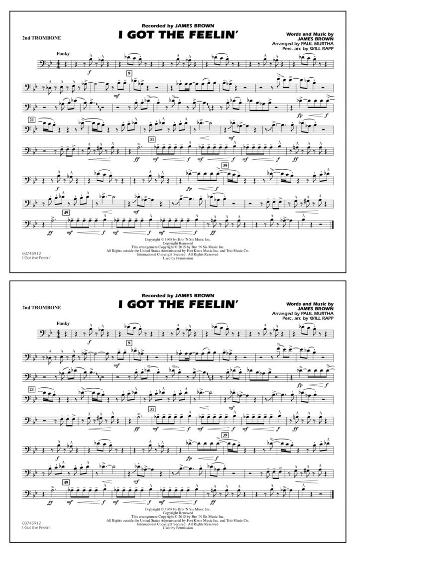 I Got the Feelin' - 2nd Trombone