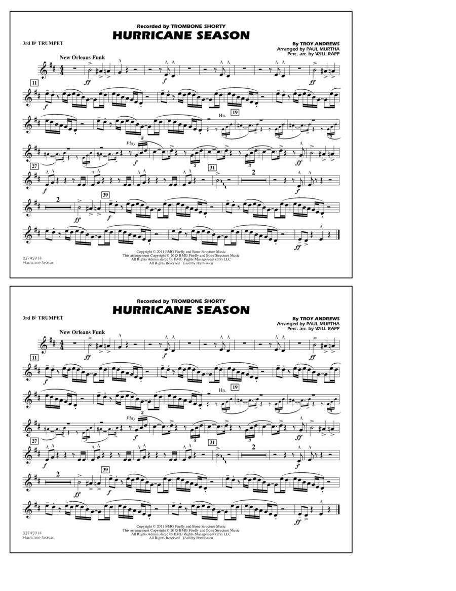 Hurricane Season - 3rd Bb Trumpet