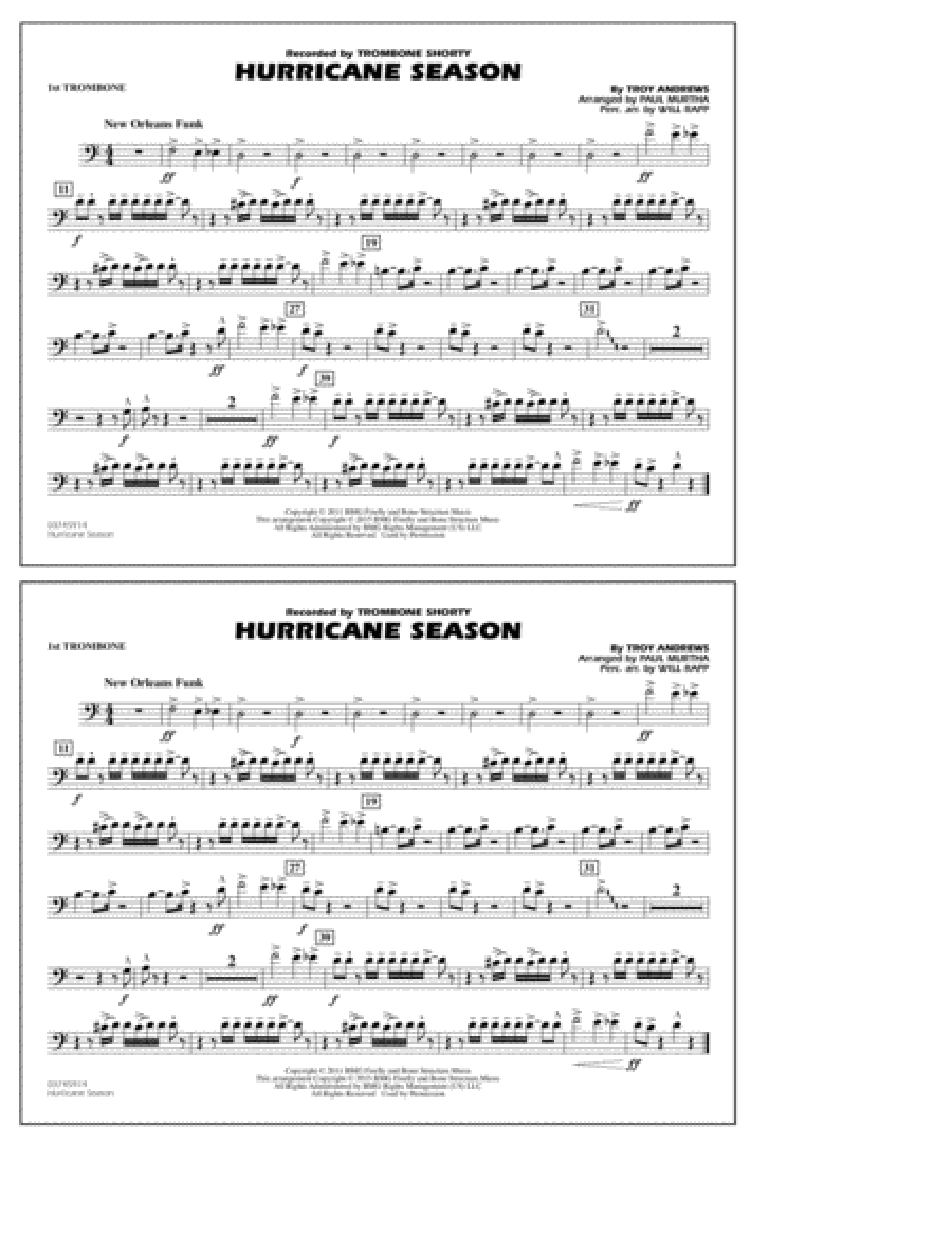 Hurricane Season - 1st Trombone