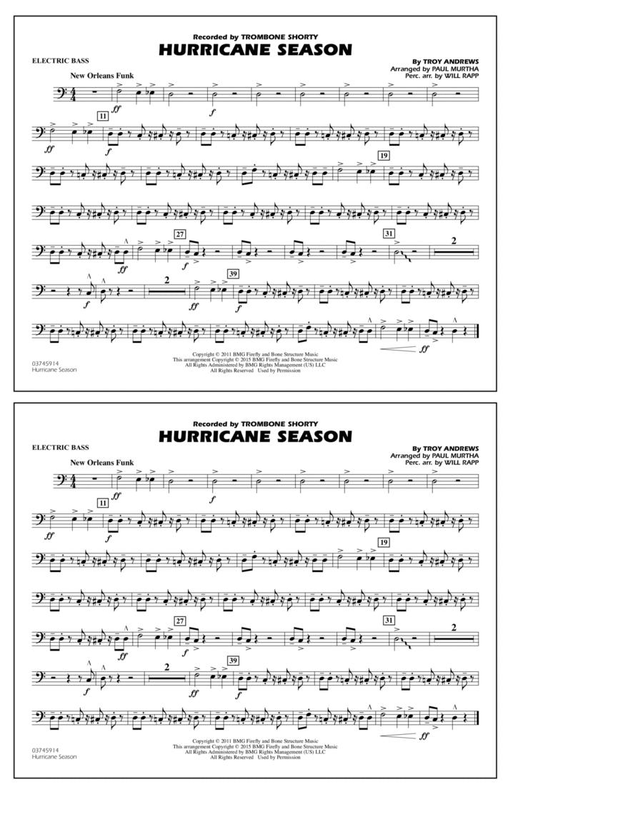 Hurricane Season - Electric Bass