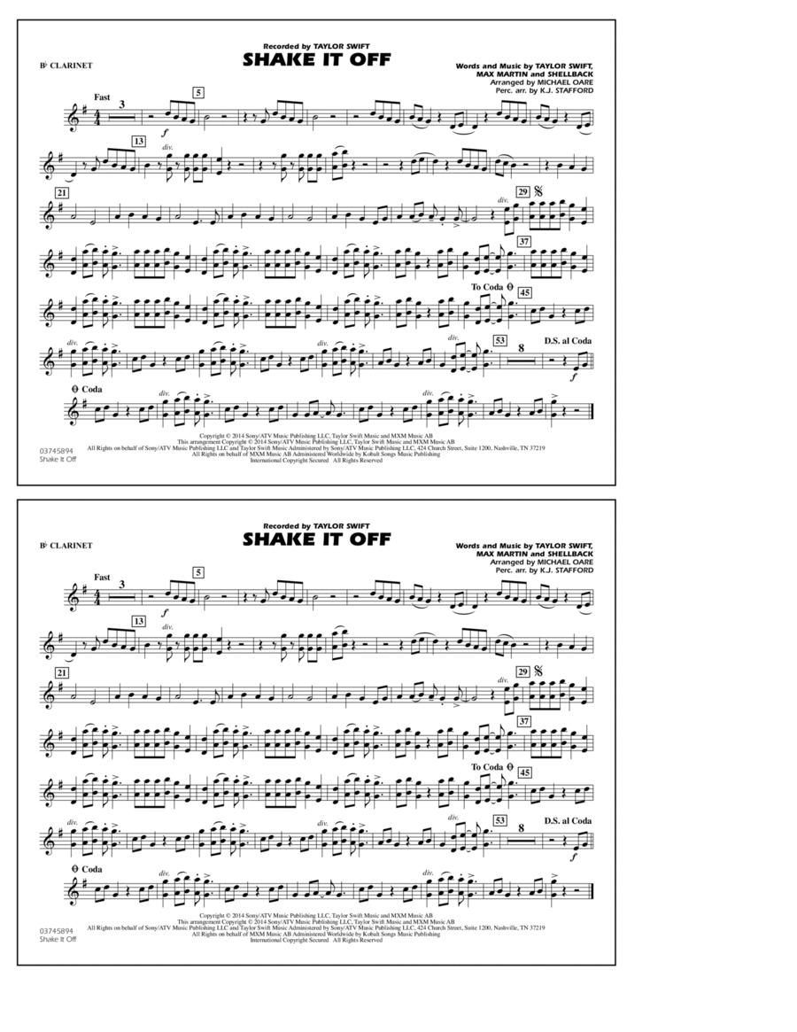 Shake It Off - Bb Clarinet