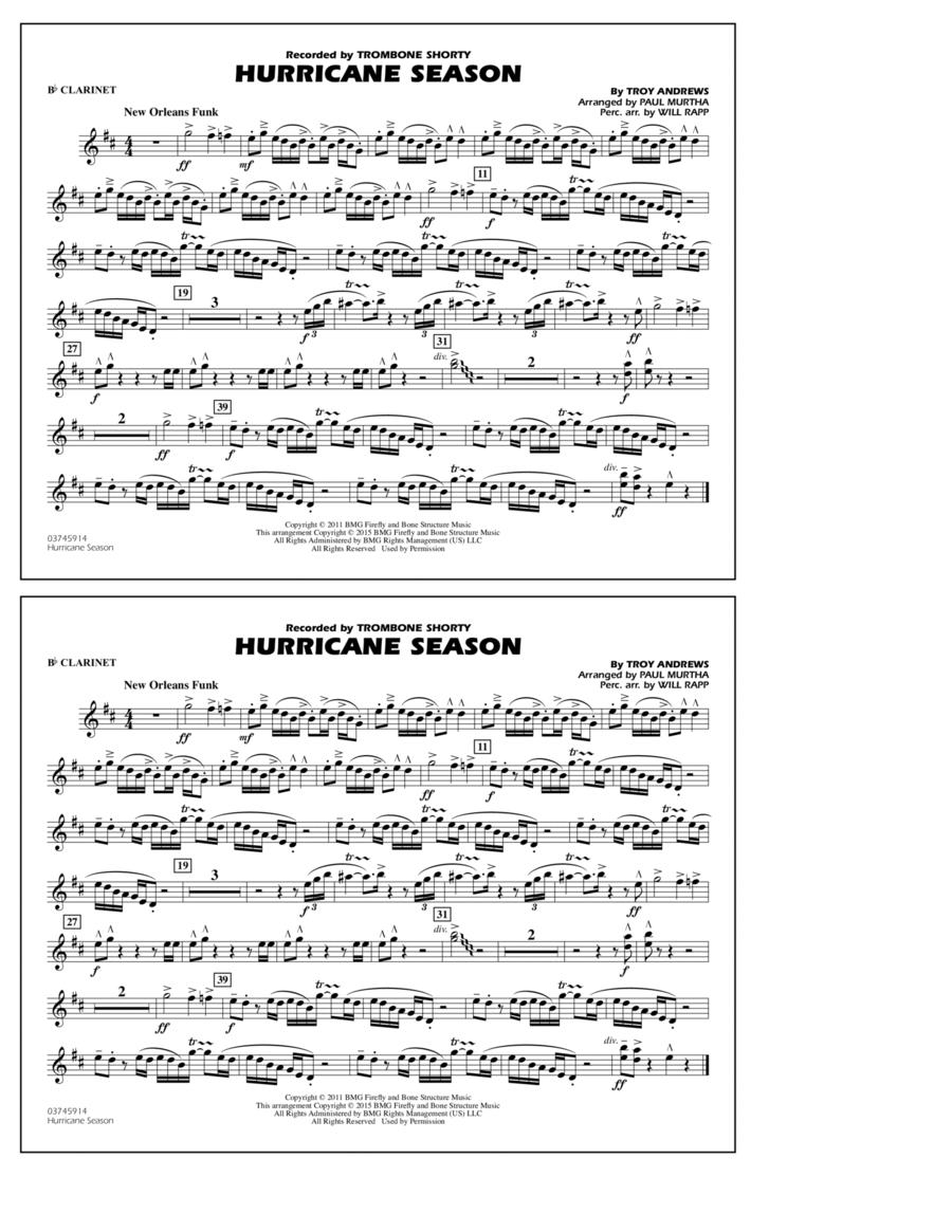 Hurricane Season - Bb Clarinet
