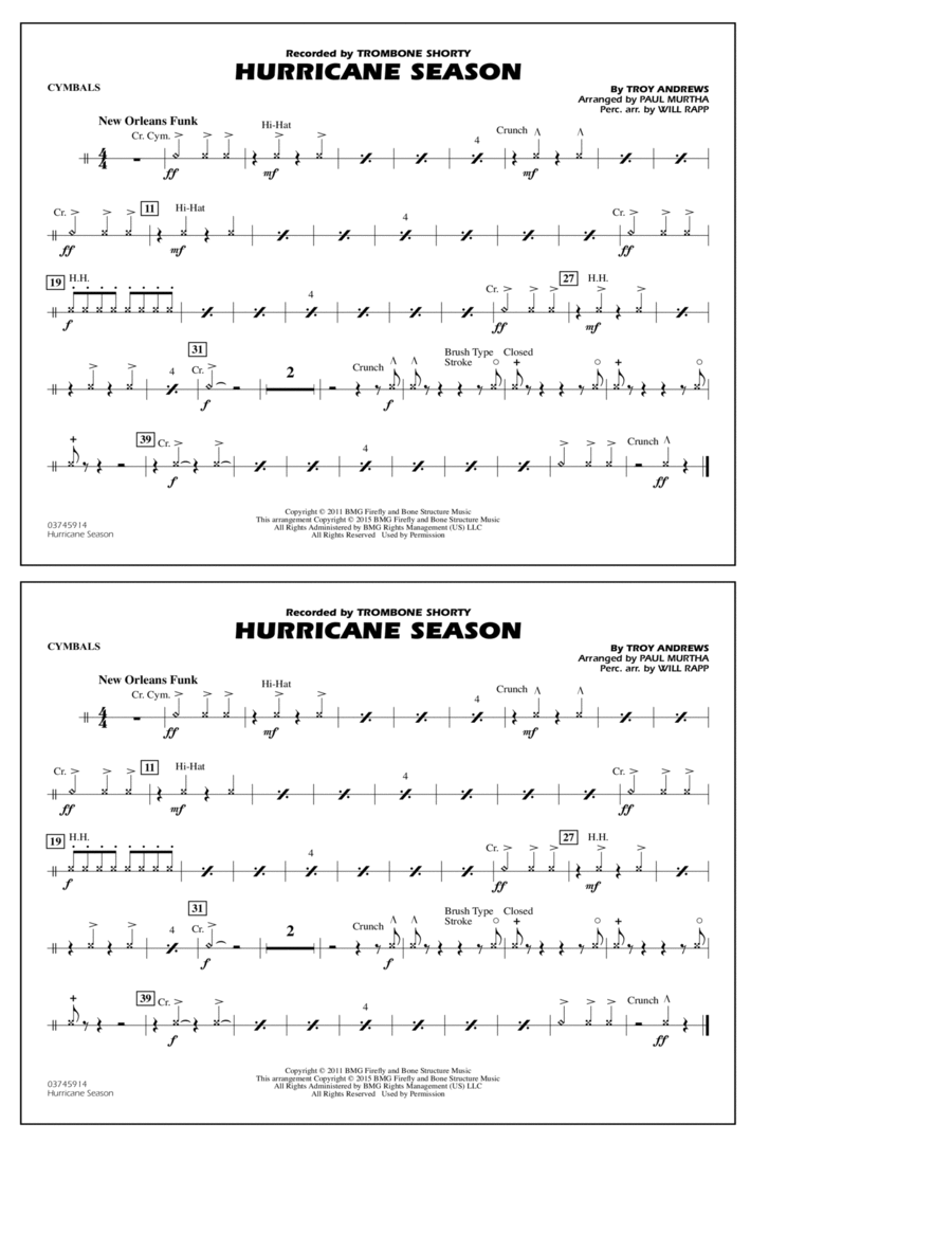 Hurricane Season - Cymbals