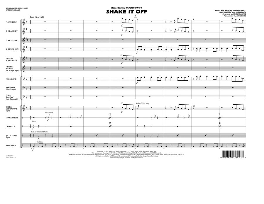 Shake It Off - Conductor Score (Full Score)