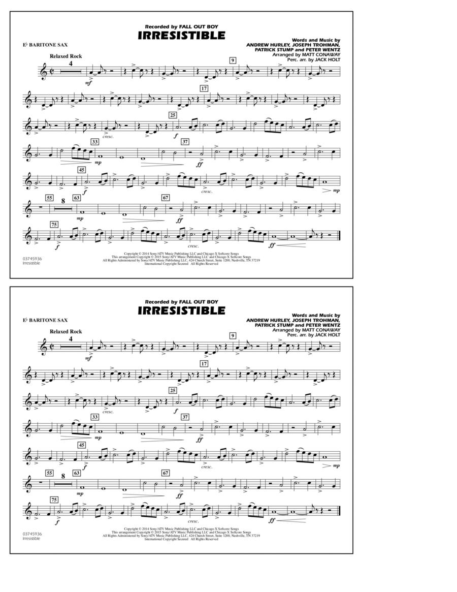 Irresistible - Eb Baritone Sax