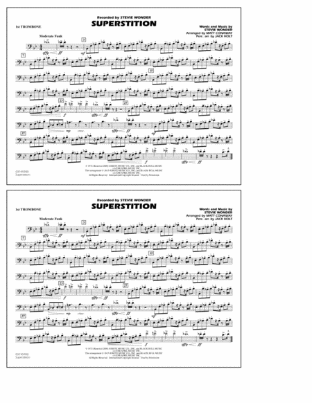 Superstition - 1st Trombone