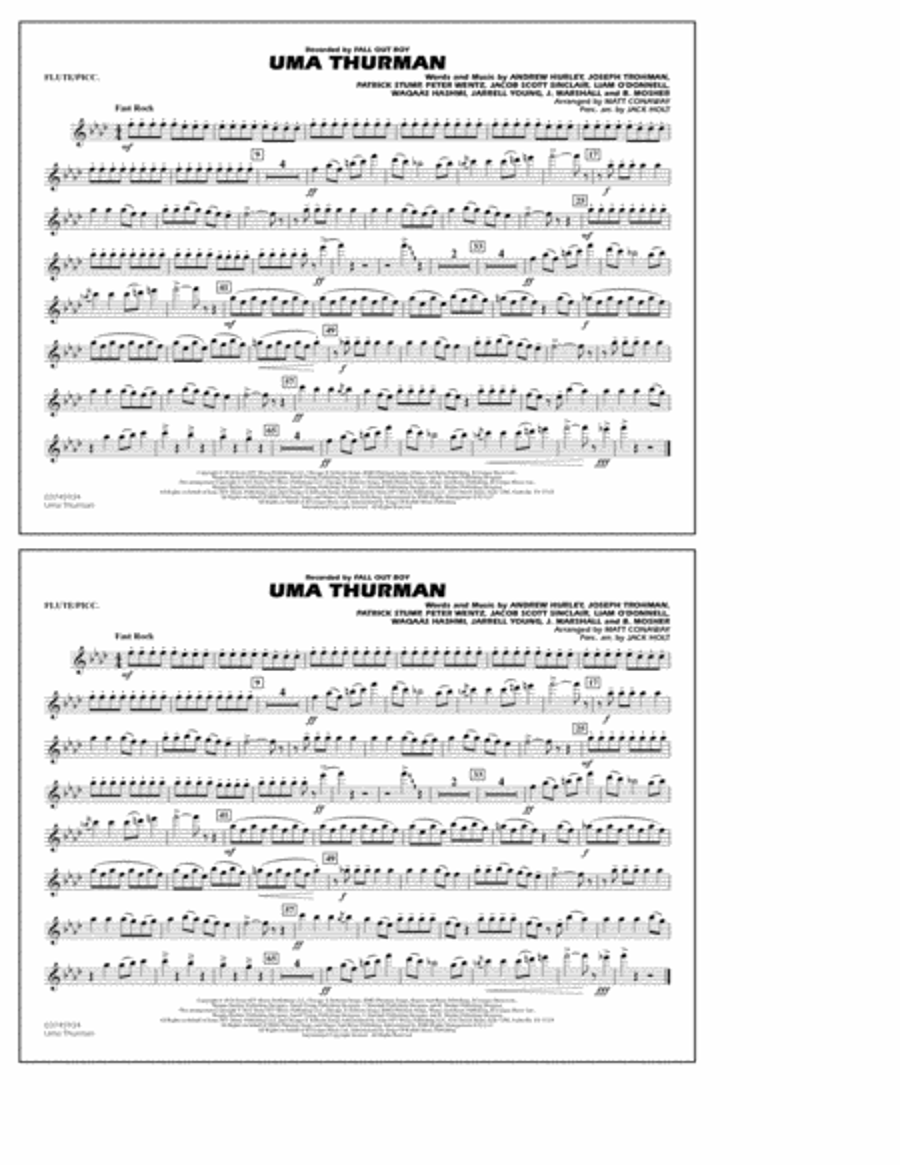 Uma Thurman - Flute/Piccolo