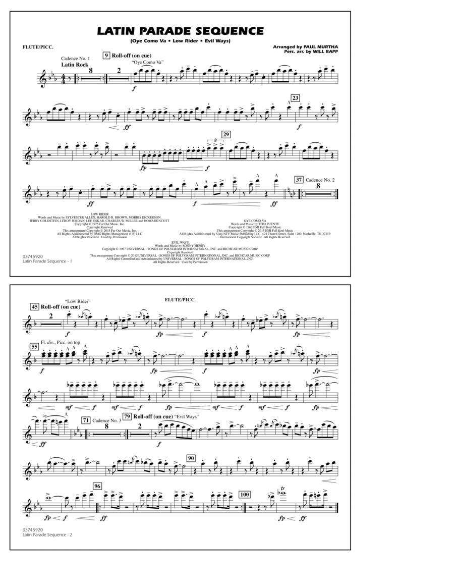Latin Parade Sequence - Flute/Piccolo