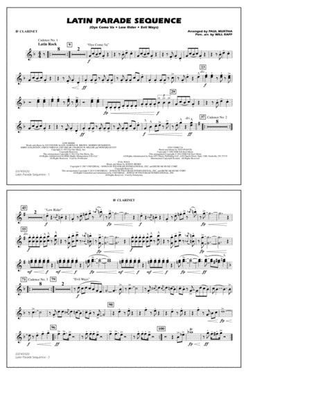 Latin Parade Sequence - Bb Clarinet