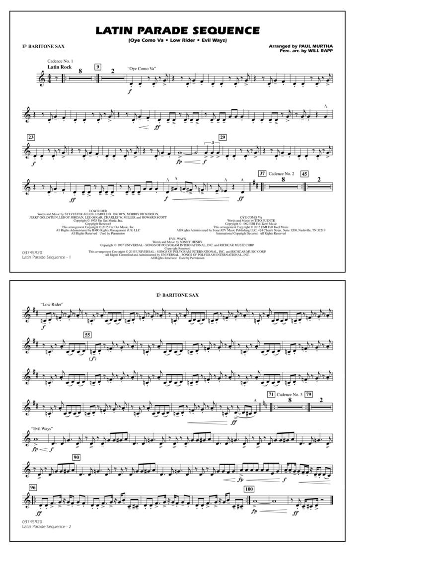 Latin Parade Sequence - Eb Baritone Sax