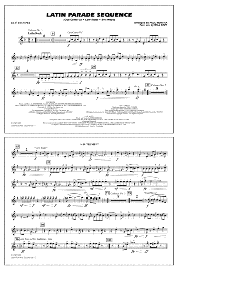 Latin Parade Sequence - 1st Bb Trumpet