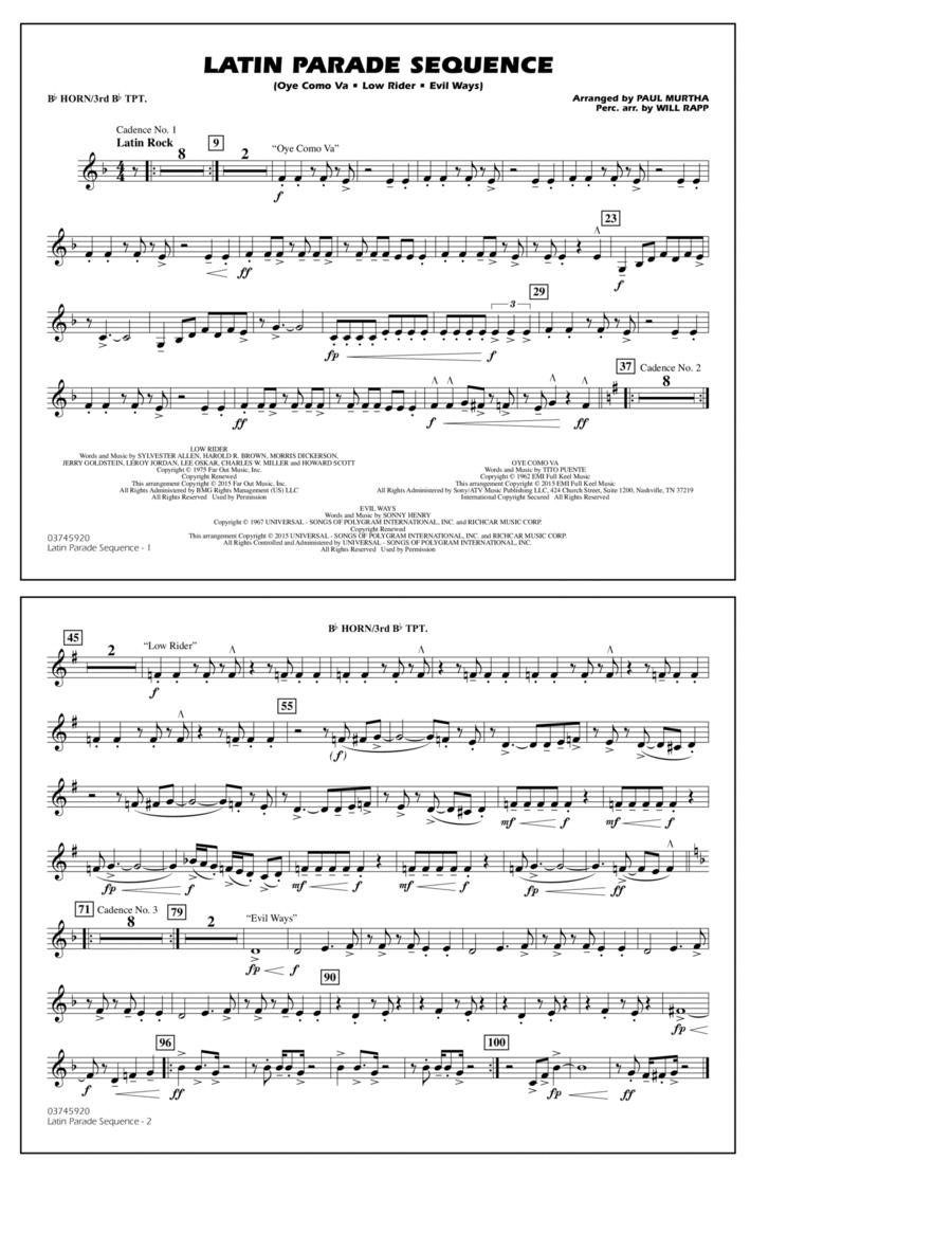 Latin Parade Sequence - Bb Horn/3rd Bb Tpt