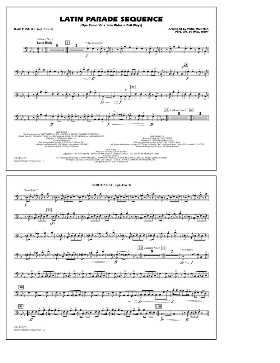 Latin Parade Sequence - Baritone B.C. (Opt. Tbn. 2)