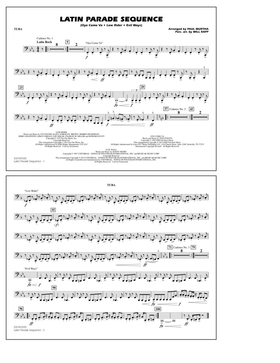 Latin Parade Sequence - Tuba