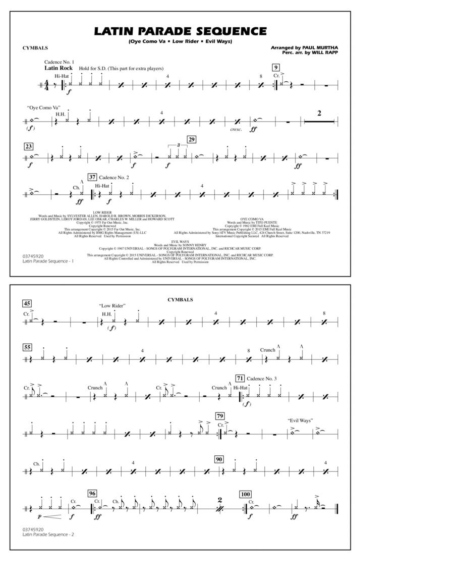 Latin Parade Sequence - Cymbals