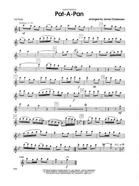 Pat-a-Pan - 1st Flute