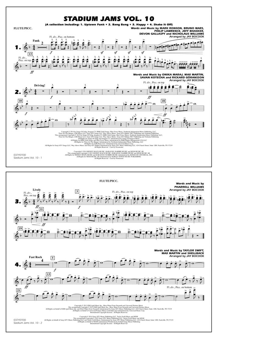 Stadium Jams Vol. 10 - Flute/Piccolo