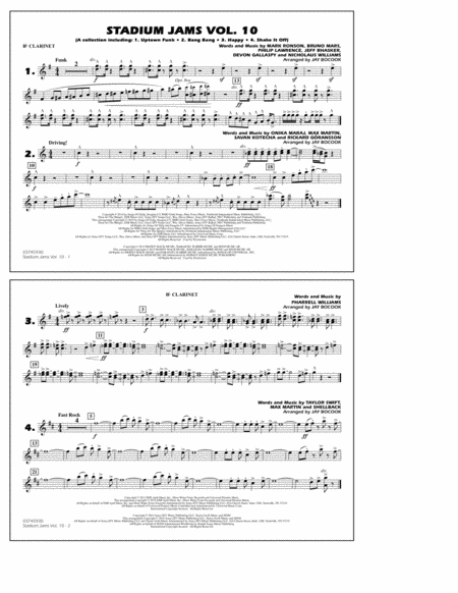 Stadium Jams Vol. 10 - Bb Clarinet