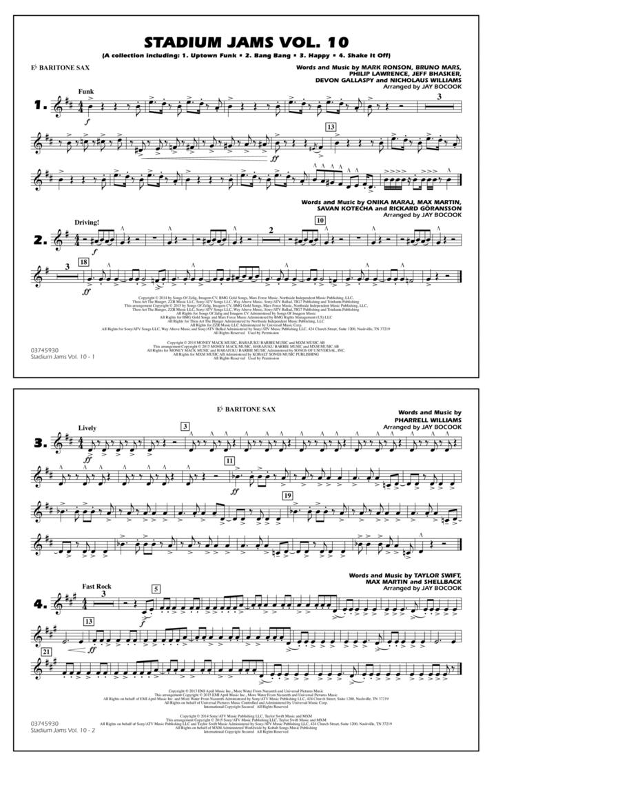 Stadium Jams Vol. 10 - Eb Baritone Sax