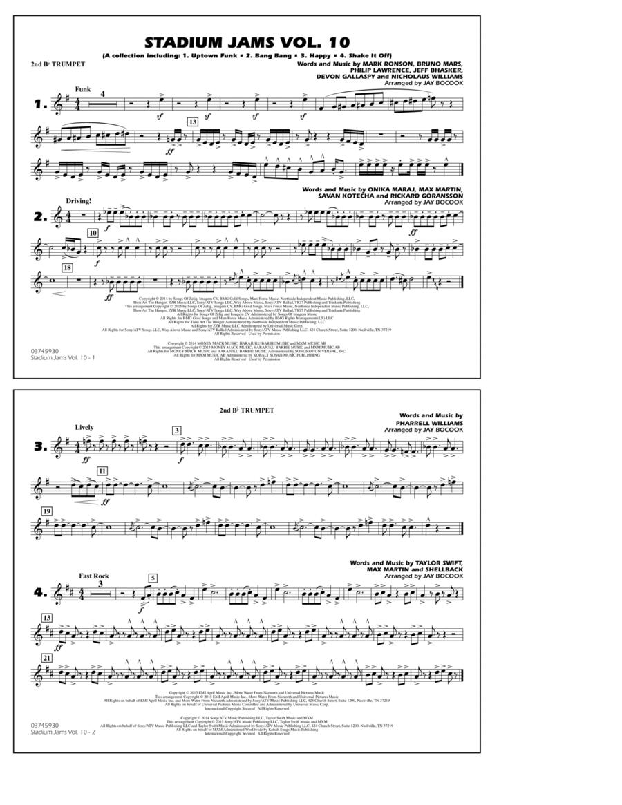 Stadium Jams Vol. 10 - 2nd Bb Trumpet