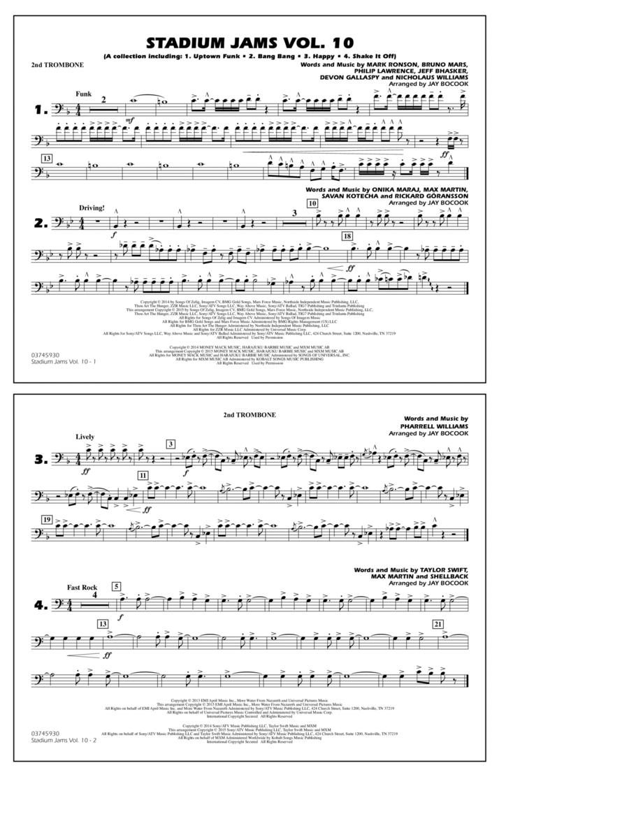 Stadium Jams Vol. 10 - 2nd Trombone