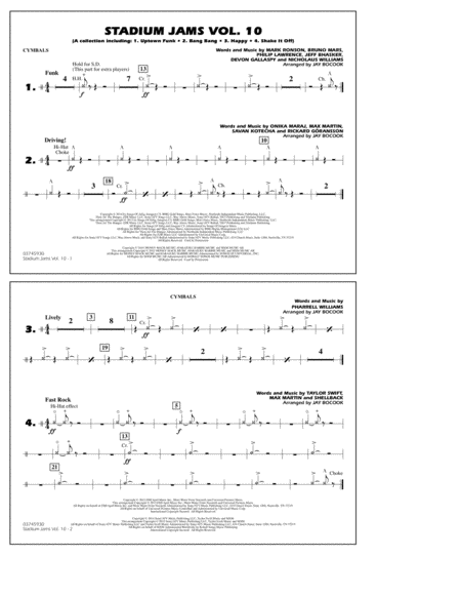Stadium Jams Vol. 10 - Cymbals