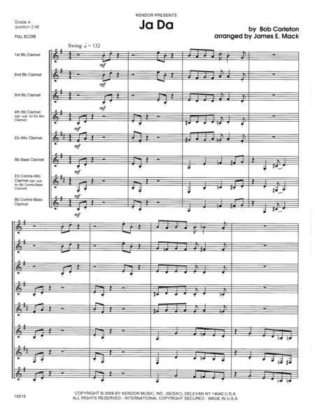 Ja Da - Full Score