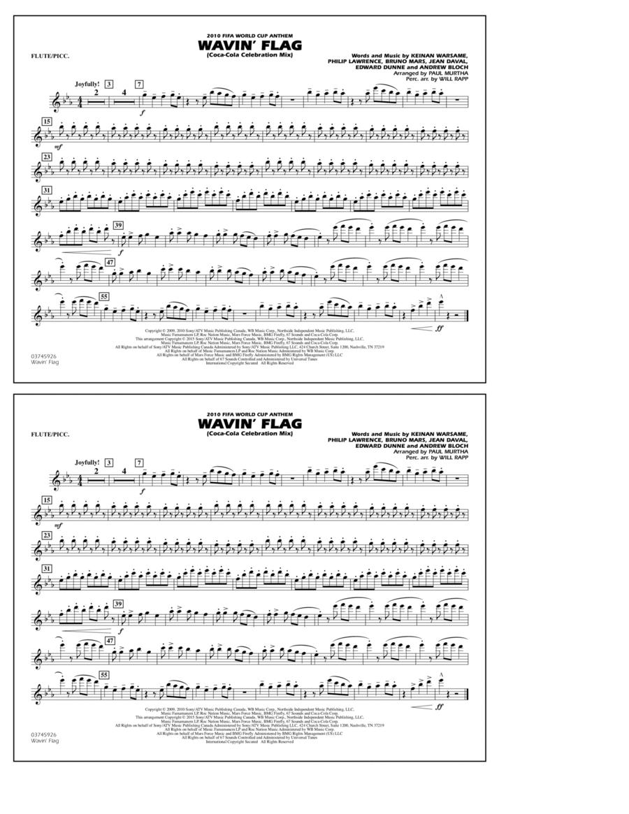 Wavin' Flag - Flute/Piccolo