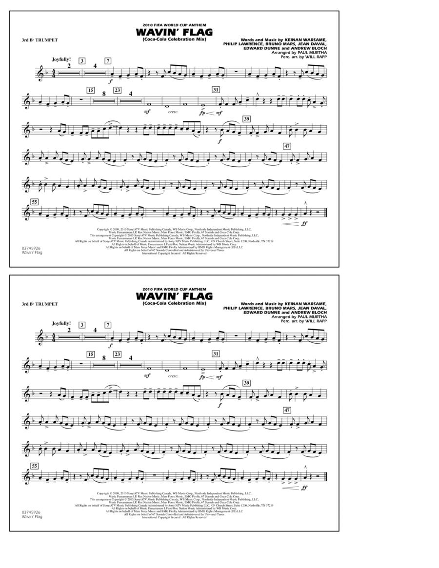 Wavin' Flag - 3rd Bb Trumpet