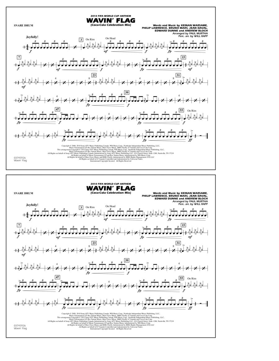 Wavin' Flag - Snare Drum