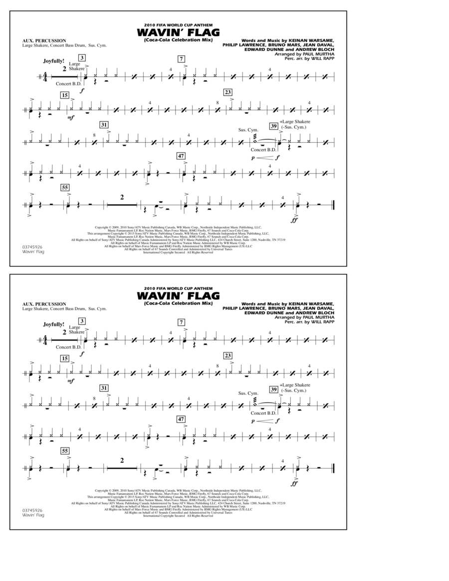Wavin' Flag - Aux Percussion